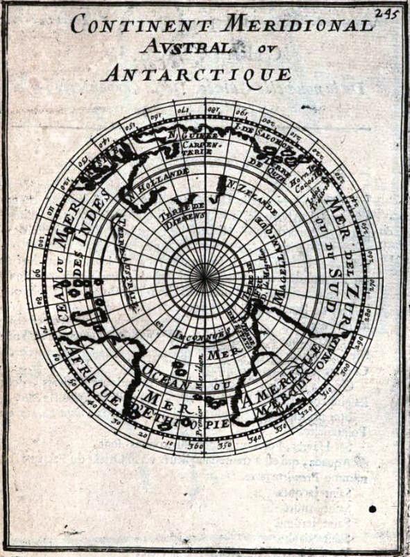 Continent méridional austral ou Antarctique (Description de l'Univers, V, pl. 107)