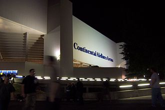 Meadowlands Arena - In 1996, Continental Airlines purchased naming rights to the Brendan Byrne Arena. This picture shows the arena's signage under that name.