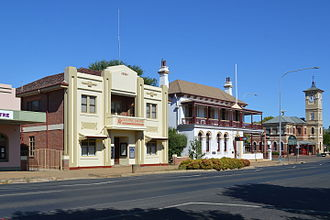 Cootamundra - The CBC bank building and post office on Wallendoon St