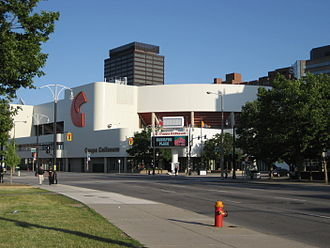 Phoenix Coyotes bankruptcy and sale - Copps Coliseum, now FirstOntario Centre, in Hamilton, Ontario.