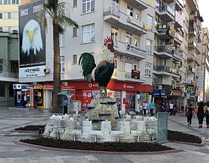Denizli - Ceramic statue of Denizli's Rooster, symbol of the city
