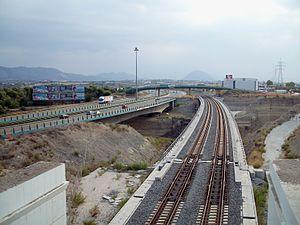 Corinth - The rail road bridge over the Isthmus of Corinth.