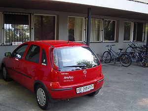 Mobility Carsharing - A Mobility car in Bern.