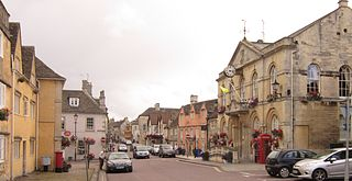 Corsham town in Wiltshire, England