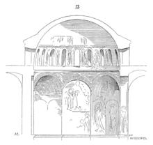 Sezione di una cupola (chiesa di San Nicodemo ad Atene).