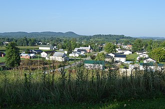 Crab Orchard, Kentucky - Overview from the city cemetery