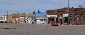 Creston, Nebraska - Downtown Creston: Pine Street