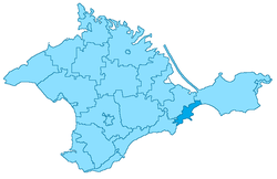 Location within Crimea