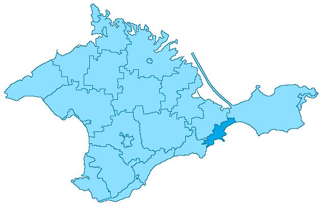 Crimea-Theodosia locator map