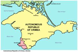 Zemljovid Autonomne Republike Krima