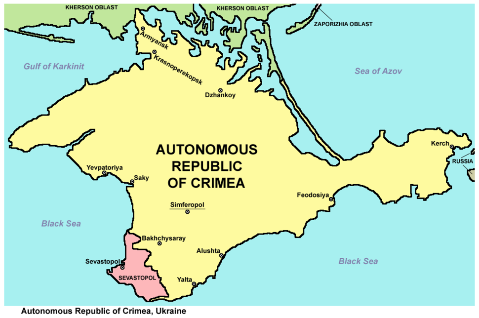 Crimea republic map