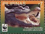 Crocodylus mindorensis 2011 stamp of the Philippines 4.jpg
