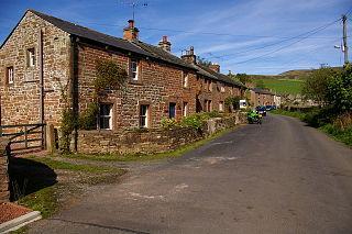 Croglin village in county Cumbria, England