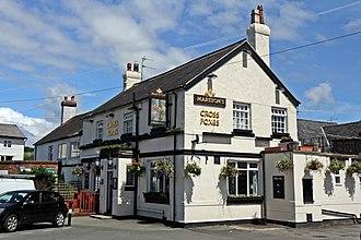 Gobowen - Image: Cross Foxes pub, Gobowen (geograph 4024017)