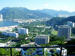 Chinese University of Hong Kong - A view of the campus in Ma Liu Shui