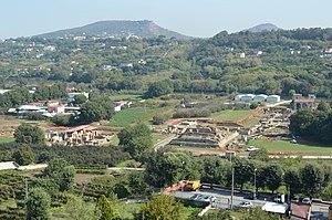 Cumae - The lower city of Cumae seen from the acropolis