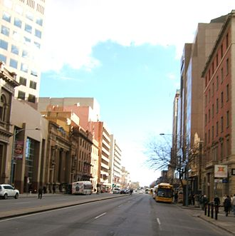 Currie Street, Adelaide - Currie Street, looking west from King William Street.