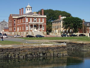 National Historic Site (United States) - Customs House at the Salem Maritime NHS in Salem, Massachusetts, the country's first NHS.