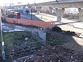 Cycle parking and fly tipping, Dagenham Dock station.jpg