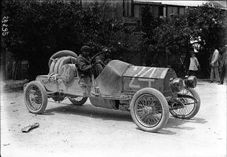 SCAT (automobile) - Cyril Snipe at the 1912 Targa Florio