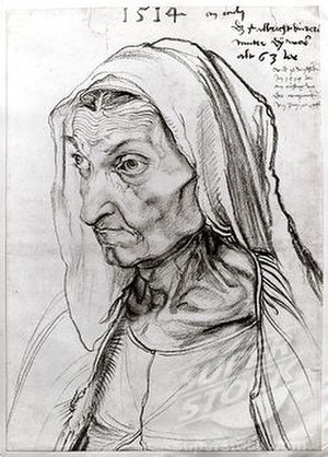Portrait of the Artist's Mother at the Age of 63 - Portrait of the Artist's Mother at the Age of 63. Kupferstichkabinett, Berlin.