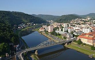 Děčín - View over the Elbe Valley