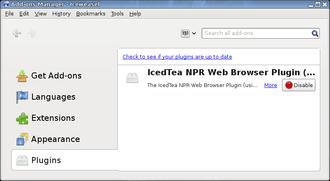 IcedTea - IcedTea NPR plugin (based on IcedTea6) listed in Debian Iceweasel 6.0.2 (Knoppix 6.7.1)