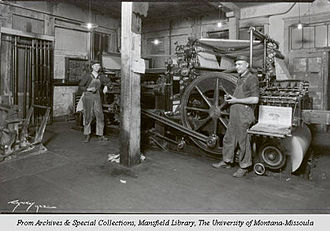 Missoulian - Daily Missoulian press room 1923