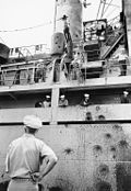 Damage to USS Liberty, June 1967.jpg