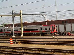 Fairfield train crash - M8 cars damaged in the collision