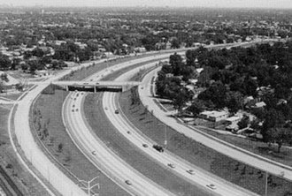 Interstate 57 - The Dan Ryan Expressway West Leg (now more commonly referred to as I-57) at 99th St in 1970.