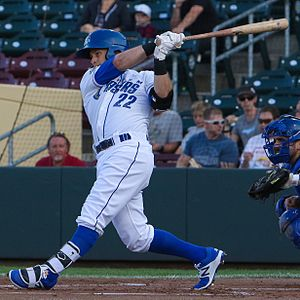 Daniel Nava - Nava with the Omaha Storm Chasers