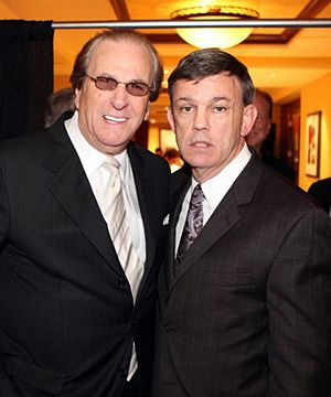 Teddy Atlas - Teddy Atlas (on the right) with Danny Aiello during Theodore Atlas Foundation's 15th annual Teddy Dinner at the Hilton Garden Inn in Staten Island, New York City, in November 2011