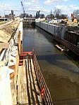 De Julianasluis in Gouda met de nieuwe kolk in aanbouw (03).JPG