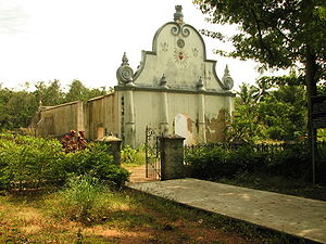 Udayagiri Fort - De Lannoy's Tomb at the Udayagiri Fort on the Kanyakumari-Trivandrum highway in Kanyakumari District.
