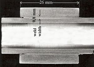 Electron-beam welding - Deep narrow weld