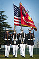 Defense.gov News Photo 120304-M-RT059-606 - The U.S. Marine Corps Color Guard marches during pass in review during the closing of a Battle Color Detachment ceremony at Eisenhower High School.jpg