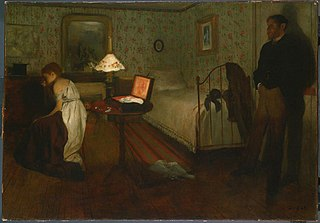 <i>Interior</i> (Degas) Painting by Edgar Degas