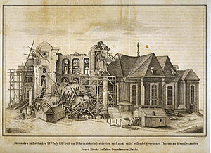Neue Kirche, Berlin - The New Church after the collapse of its tower in 1781.