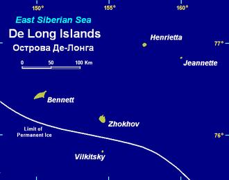 De Long Islands - Map of the De Long Islands