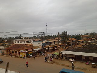 Denu District capital in Volta Region, Ghana