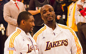2010–11 Los Angeles Lakers season - Ron Artest and Derrick Caracter.