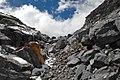 Descent along the rocky couloir. - panoramio.jpg