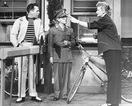 Desi Arnaz Lucille Ball I Love Lucy Lucy's Bicycle Trip