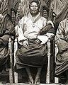 Detail, Sir Ugyen Wangchuck and his councillors at Punakha, Bhutan, 1905 (cropped).jpg