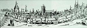 Deventer - Deventer in c. 1550
