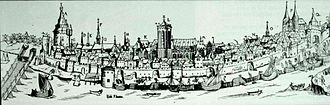 Deventer - Deventer in circa 1550