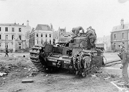 German soldiers examine a Churchill tank at Dieppe Dieppe Raid c029878.jpg