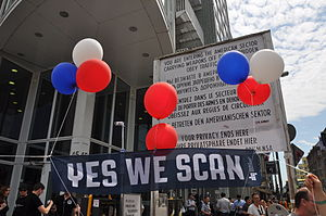 Yes We Can (will.i.am song) - Protesters against the NSA surveillance program PRISM.