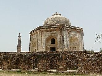 Sir Thomas Metcalfe, 4th Baronet - Dilkusha with Qutb Minar in the background, Mehrauli
